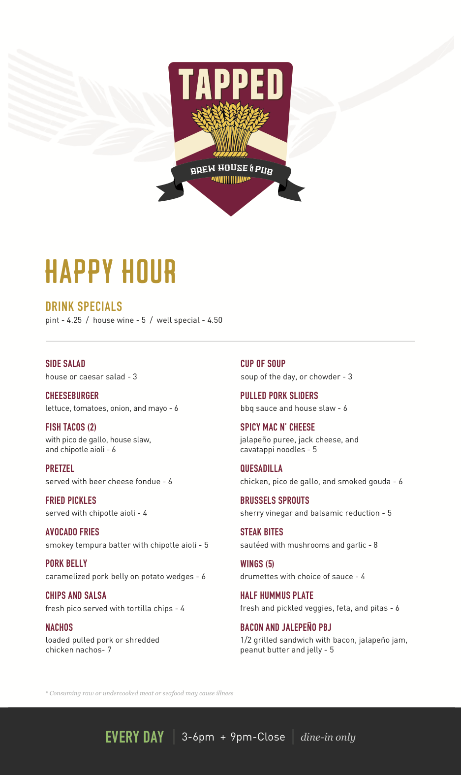 Best Happy Hour in Camas Vancouver and the Couve